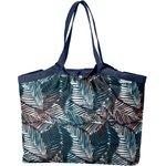 Pleated tote bag - Medium size feuillage marine - PPMC