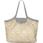 Pleated tote bag - Medium size pastel drops - PPMC