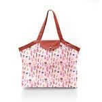 Pleated tote bag - Medium size herbier rose - PPMC