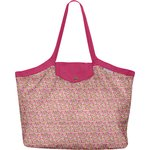 Pleated tote bag - Medium size pink jasmine - PPMC