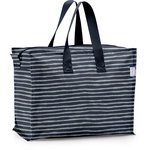 Storage bag striped silver dark blue - PPMC