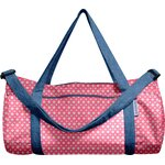 Duffle bag small flowers pink blusher - PPMC