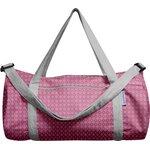 Duffle bag grey pink petals - PPMC
