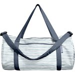 Duffle bag striped blue gray glitter - PPMC