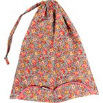 Sac lingerie floral pêche - PPMC