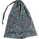 Sac lingerie milli fleurs vert azur - PPMC