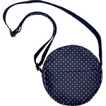 Round bag navy blue spots - PPMC