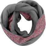 Snood polaire taille unique lichen prune rose - PPMC