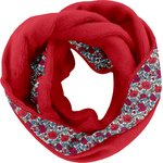 Fleece snood one-size coquelicot pol.rouge - PPMC