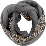 Fleece snood one-size ochre flower - PPMC