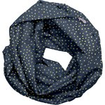 Fabric snood adult navy gold star - PPMC