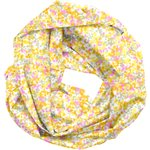 Fabric snood adult mimosa jaune rose - PPMC