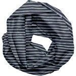 Fabric snood adult striped silver dark blue - PPMC