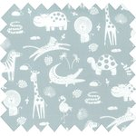 Cotton fabric animaux gris - PPMC