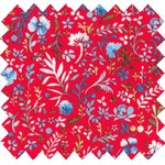 Cotton fabric cherry cornflower - PPMC