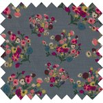 Cotton fabric grey bouquet - PPMC
