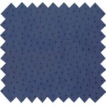 Cotton fabric blue english embroidery - PPMC