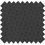 Cotton fabric broderie anglaise noire - PPMC