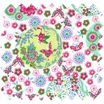 Cotton fabric spring bubbles - PPMC