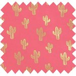 Cotton fabric gold cactus - PPMC