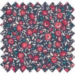 Cotton fabric camelias rubis - PPMC