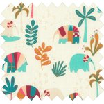 Cotton fabric carnaval d'eléphants - PPMC