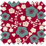 Cotton fabric ruby cherry tree - PPMC
