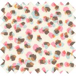 Cotton fabric confetti aqua - PPMC