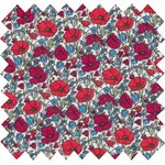 Cotton fabric poppy - PPMC