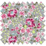 Cotton fabric pink anise eglantine - PPMC