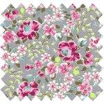 Cotton fabric pink anise eglantine - PPMC