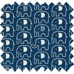 Cotton fabric blue elephant - PPMC