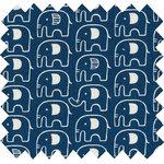 Cotton fabric blue elephant - PPMC