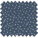 Cotton fabric etoile argent jean - PPMC