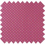 Cotton fabric etoile or fuchsia - PPMC