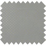 Cotton fabric etoile or gris - PPMC