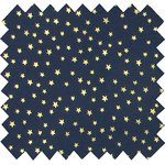 Cotton fabric navy gold star - PPMC