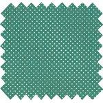 Cotton fabric pois vert - PPMC