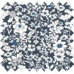 Cotton fabric violette pervenche marine ex1039 - PPMC