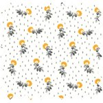 Cotton fabric flowers field ex1054 - PPMC