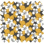 Cotton fabric fleurs moutarde ex1055 - PPMC