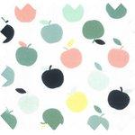 Cotton fabric green apples ex1099 - PPMC