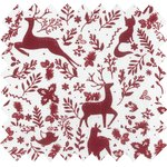 Cotton fabric red deer ex1100 - PPMC