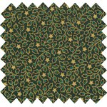 Cotton fabric green and gold holly ex1105 - PPMC