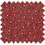 Cotton fabric red and gold holly ex1108 - PPMC