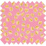 Cotton fabric exd poussin rose - PPMC