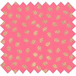 Cotton fabric feuillage or rose - PPMC