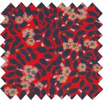 Cotton fabric vermilion foliage - PPMC
