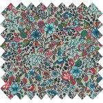 Tissu coton fleur mentholé - PPMC