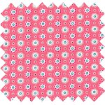 Cotton fabric small flowers pink blusher - PPMC